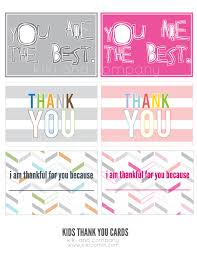 kids thank you cards kids thank you notes free company