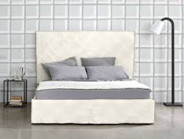 double bed with upholstered headboard classic by letti u0026co design