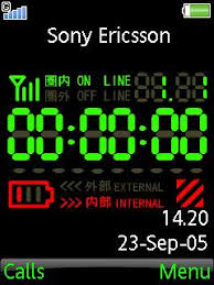 wallpaper bergerak sony xperia download digital clock sony ericsson theme mobile toones