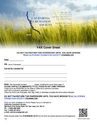 all california cremation printable fax cover sheet template edit fill out