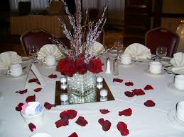 tall red rose wedding centerpieces guest table centerpieces made