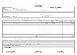 plantilla de nomina para rellenar formato orden de compra office formats
