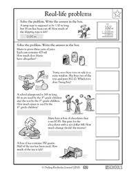 3rd grade 4th grade math worksheets real life word problems