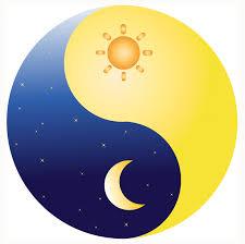 ying yang sun and moon free vector 4vector