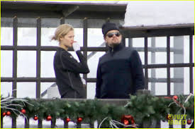 leonardo dicaprio u0026 toni garrn vacation in the snowy french alps