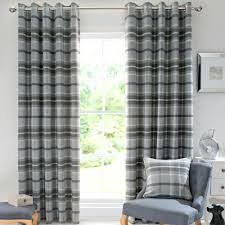 Pink Tartan Curtains Pink Tartan Curtains Highland Check Dove Grey Lined Eyelet