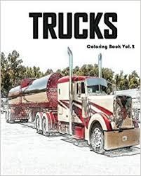 amazon trucks coloring book vol 2 trucks grayscale coloring