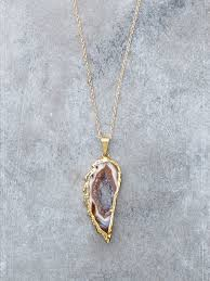 necklace wing images Druzy angel wing necklace lunessa jpg