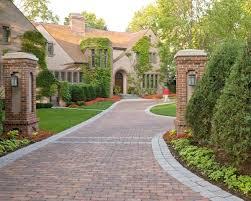 Cottage Curb Appeal - curb appeal driveway ideas landscape design brick pavers