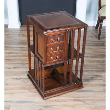 leather top revolving bookcase niagara furniture free shipping