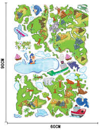 World Map Cartoon by New Diy American Europe Green Plant Animal Cartoon World Map