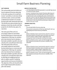 farm business plan template 9 free sample example format
