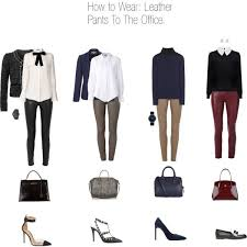 how to wear leather pants to the office ivxxii