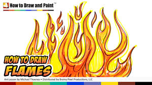 how to draw flames graffiti fire drawing lesson art for kids