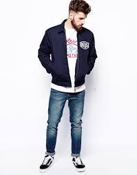 la machina deus ex machina la custom jacket in blue for men lyst