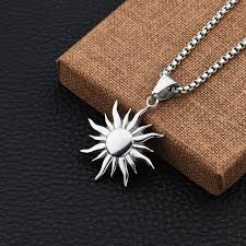 jewelry charm necklace images Online shop new fashion hip hop jewelry charm sun design pendant jpg