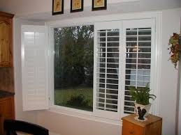 interior wood shutters plantation for sliding patio doors bypass