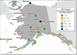 Bethel Alaska Map by 2014 Annual Statewide Summary Alaska Climate Research Center