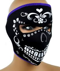 motorcycle rider halloween costume dia de los muertos neoprene protective full motorcycle riding mask