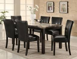 dining room leather chairs dining room a gorgeous black marble granite dining room tables