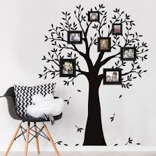 narrow family tree wall decal tree wall decal for picture frames