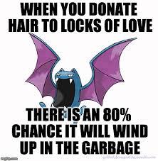 Donation Meme - meme racism cancer libertarian locks of love reverse racism pokemon