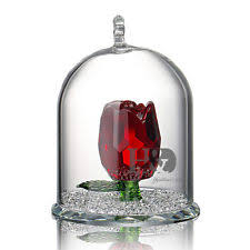 Glass Rose Crystal Rose Ornament Ebay