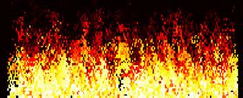 red matrix gif realistic fire simulation cellular automata matzjb