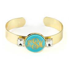 Monogram Bangle Bracelet Moon And Lola Valla Cuff