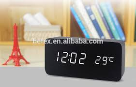 Small Clock For Desk Wholesale Sale China Cheap Smart Wooden Desk Small Led Digital