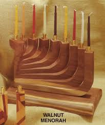 wooden menorah naturally wood creations products gallery