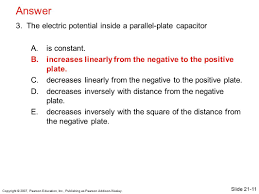 chapter 21 electric potential topics sample question ppt download