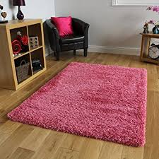Luxury Shaggy Rug Bright Pink Super Soft Luxury Shaggy Rug 5 Sizes Available