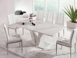Marble Dining Room Table And Chairs Sophisticated White Grey Marble Dining Table Set Design Ideas At