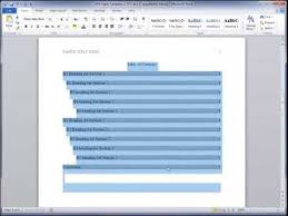 apa 6th edition format table of contents template apa format