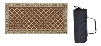 Outdoor Rv Rugs by Amazon Com Reversible Mats 119187 Brown Beige 9 U0027x18 U0027 Rv Patio Mat