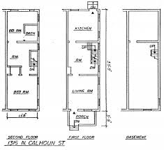 row house floor plan guest post how to date a rowhouse other than mcmansion hell