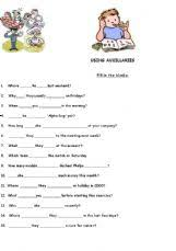english exercises auxiliary verbs