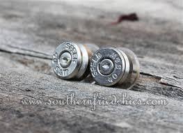 bullet stud earrings silver bullet stud earrings