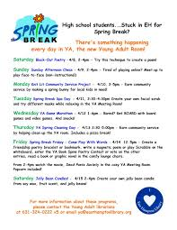 spring break events for high students at the east hampton