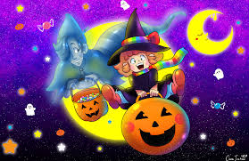 gwendy u0026 ghost halloween wallpaper by doublemaximus on newgrounds