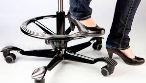 pied de chaise de bureau repose pied contemporain aluminium professionnel pour bureau håg