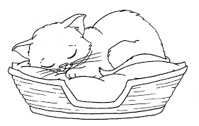 kitten coloring pages printable 2017 with a after good breakfast