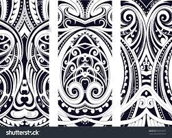 set maori style ornaments ethnic themes stock vector 556679977