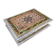 buy best christmas gift silver metal polish meenakari decorative