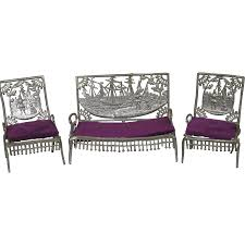 Dolls House Furniture Antique 1893 Doll House Furniture Settee Two Chairs Columbian