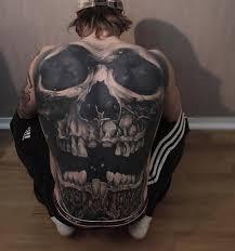 skull back tattoo best tattoo design ideas