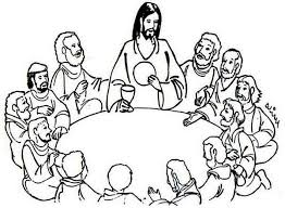 Last Supper Clipart Last Supper Coloring Page