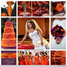 colour themes for nigerian wedding incredible nigerian wedding plum and burnt orange color scheme image