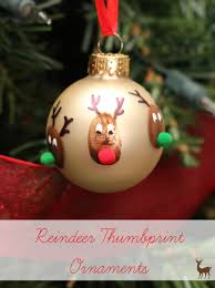 reindeer thumbprint ornaments ornament craft and holidays